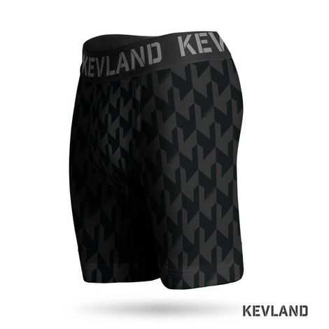 Cueca Boxer Long Leg Kevland Black Crew