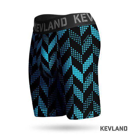 Cueca Boxer Long Leg Kevland Blue Crew