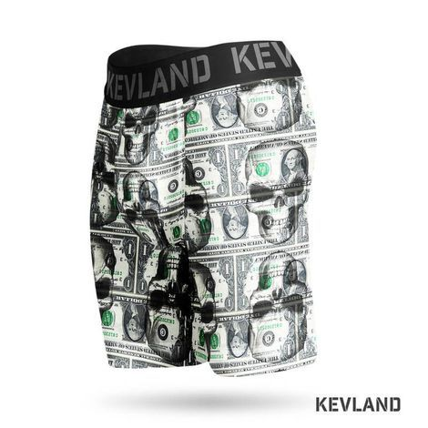 Cueca Boxer Long Leg Kevland Dolar Skull II