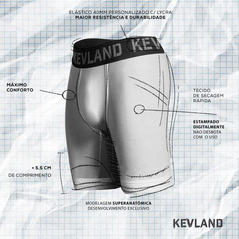 Cueca Boxer Long Leg Kevland One Dolar