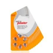 Pilhas para Aparelhos Auditivos Extra Power n° 13 caixa com 60 unidades.