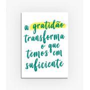 Quadro A gratidão transforma