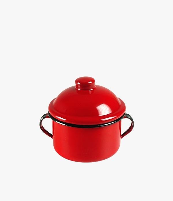 Açucareiro Esmaltado Vermelho