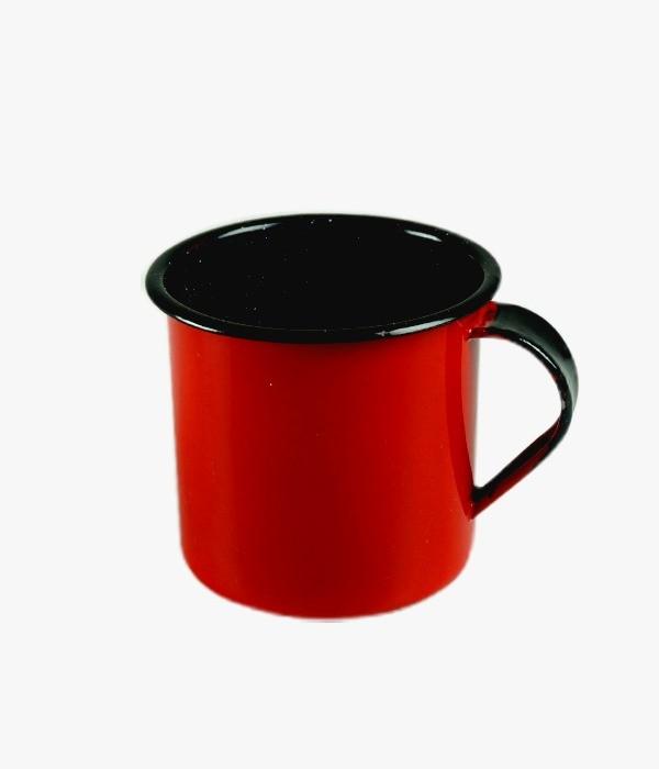 Caneca Grande Esmaltada Vermelha