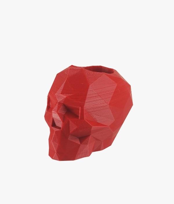 Caveira 3D Multiuso - Vermelha