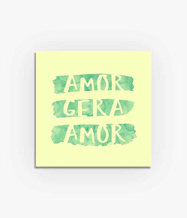 Quadro Amor Gera Amor  - Greenpallets