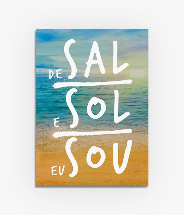 Quadro De Sal e Sol eu Sou