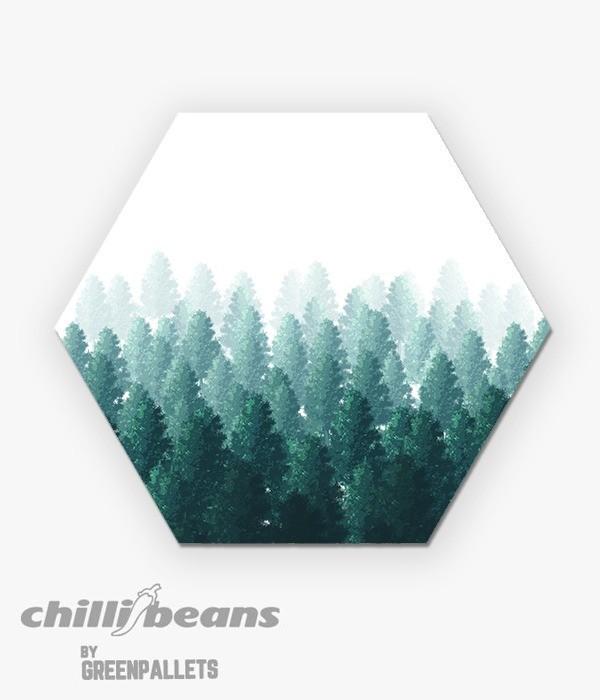 Quadro Hexagonal - Pine Tree  - Greenpallets