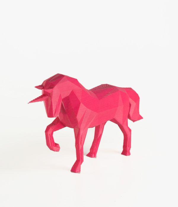 Unicórnio 3D - Rosa