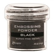Pó para Emboss - Ranger Embossing Powder - Super Fine Black