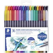 Staedtler Double-Ended Watercolour Brush Pens 36/Pkg - Importado