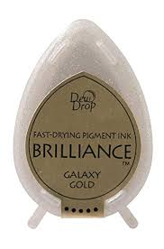 Brilliance Dew Drop Pigment Ink Pad - Galaxy Gold