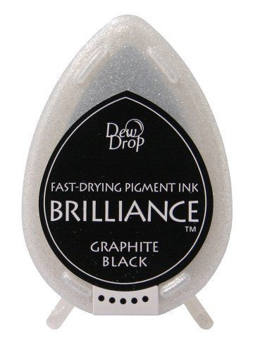 Brilliance Dew Drop Pigment Ink Pad Pearlescent - Graphite