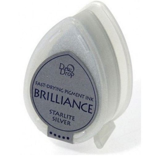 Brilliance Dew Drop Pigment Ink Pad - Starlight Silver