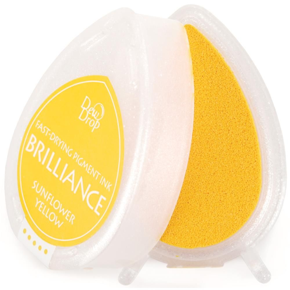 Brilliance Dew Drop Pigment Ink Pad - Sunflower Yellow