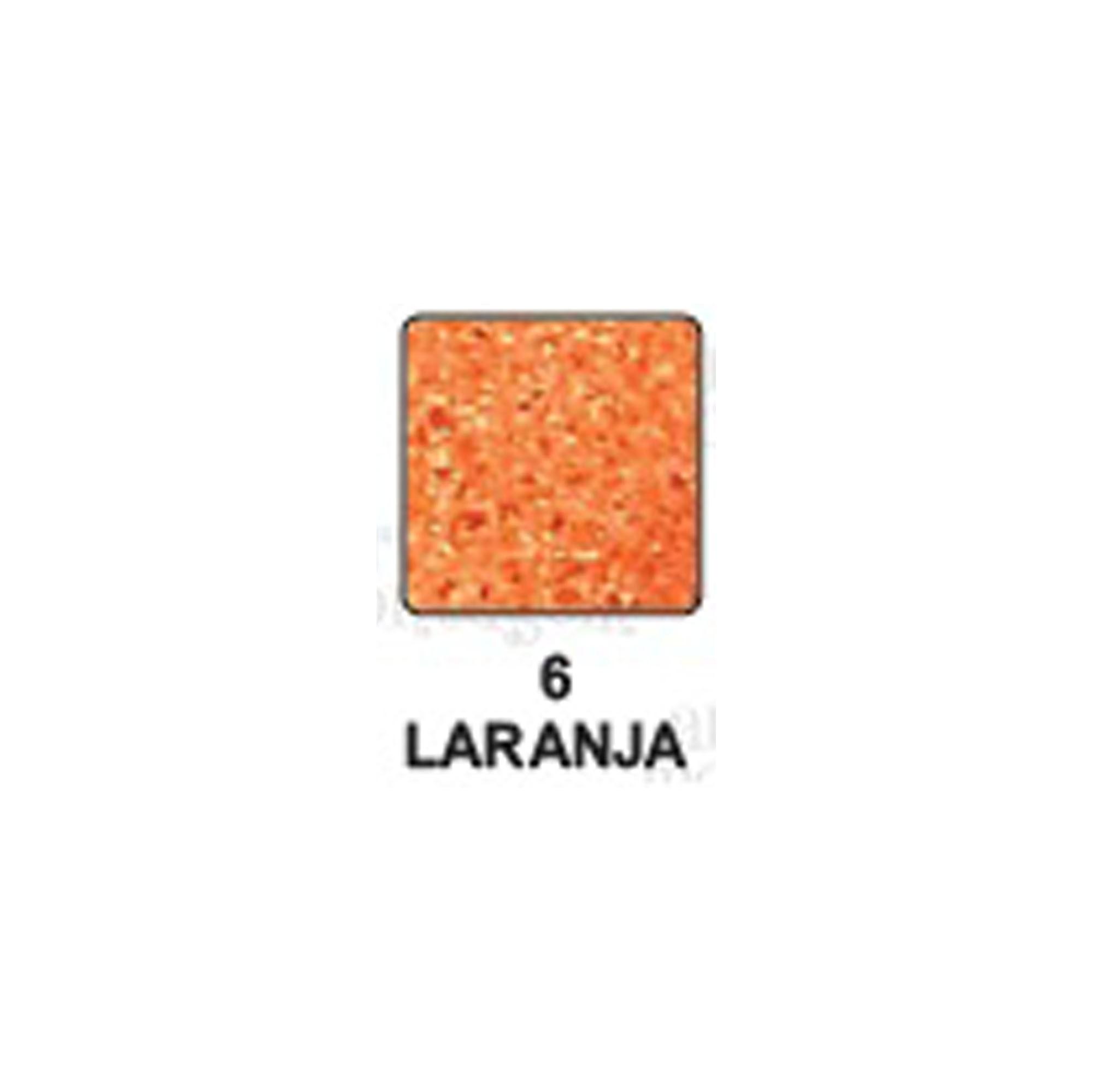 Carimbeira Art Montagem  - 3,3 x 3,3 cm - Perolada Laranja