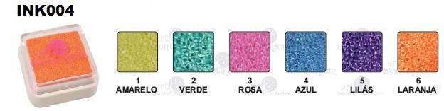 Carimbeira Art Montagem  - 3,3 x 3,3 cm - Perolada Verde