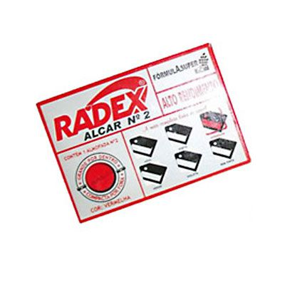 Carimbeira de Escritório ASUPER RADEX N.2 Vermelha
