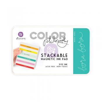 Carimbeira Prima Marketing Color Philosophy com Base Magnética - Bora Bora
