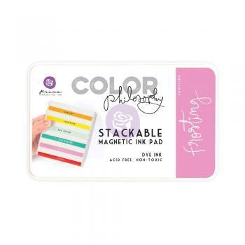 Carimbeira Prima Marketing Color Philosophy com Base Magnética - Frosting