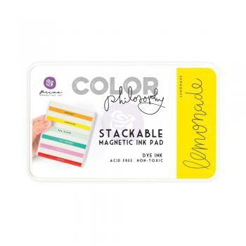 Carimbeira Prima Marketing Color Philosophy com Base Magnética - Lemonade