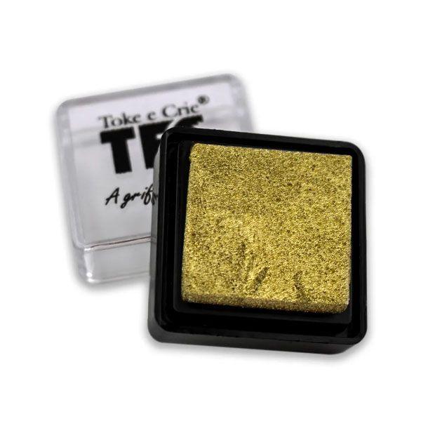 Carimbeira Toke e Crie  - 3,3 x 3,3 cm - Dourada