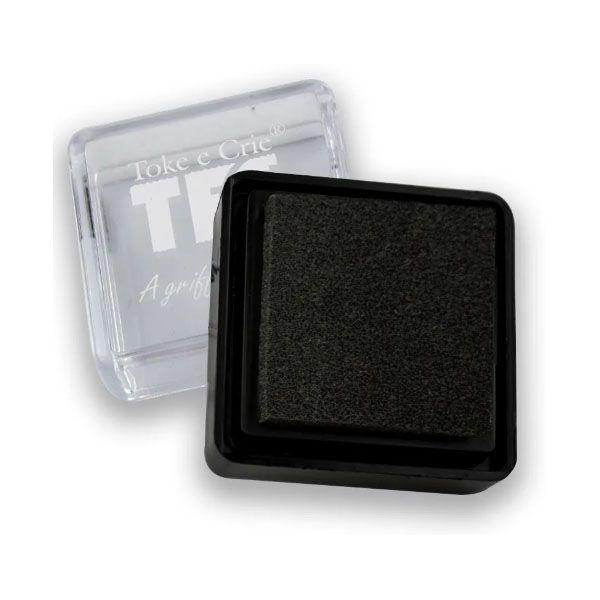 Carimbeira Toke e Crie  - 3,3 x 3,3 cm - Preta