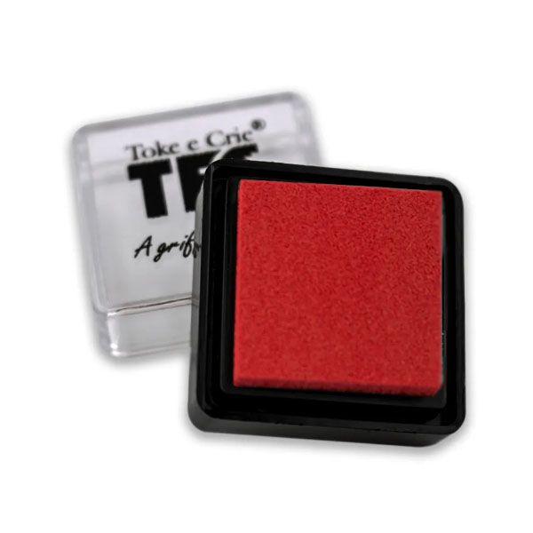 Carimbeira Toke e Crie  - 3,3 x 3,3 cm - Vermelha