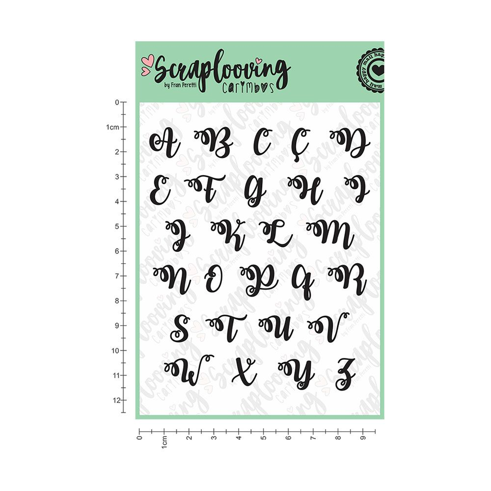 Cartela Alfabeto Brush Lettering Maiúscula