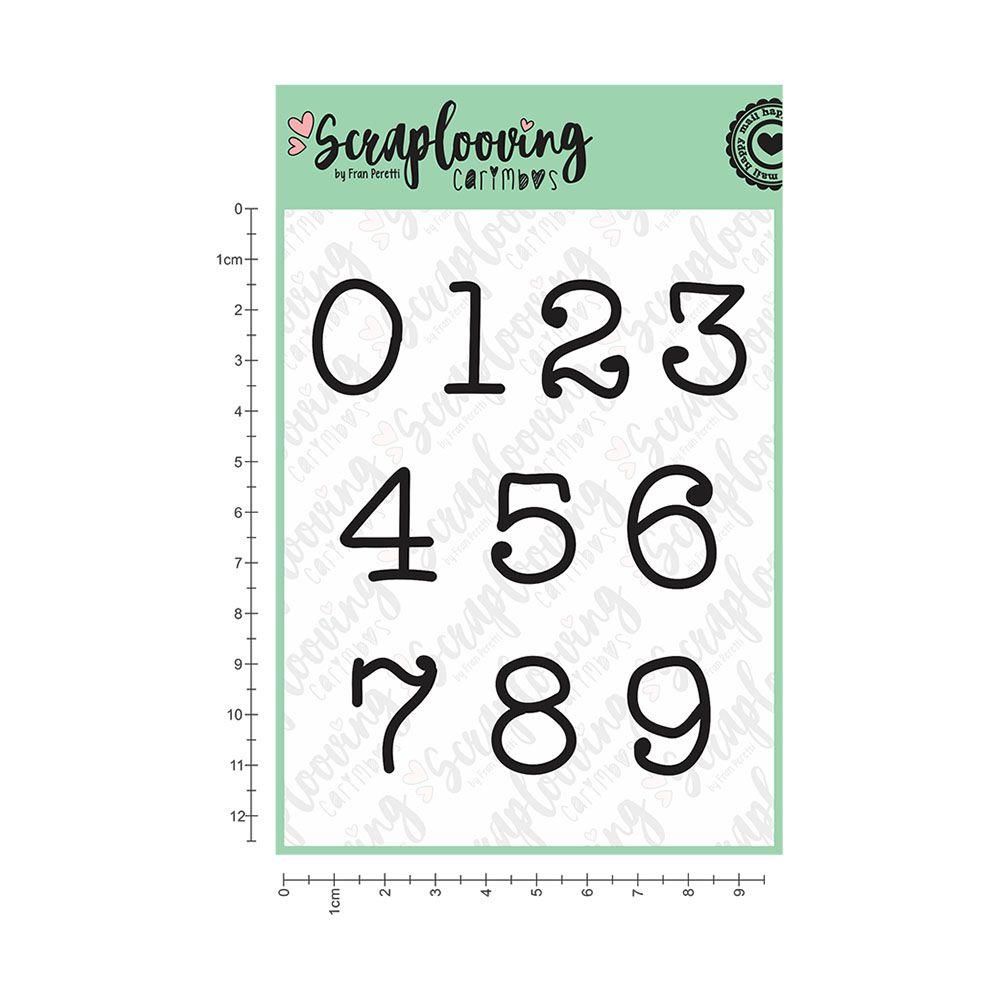 Cartela Números Grandes - Máquina de Escrever