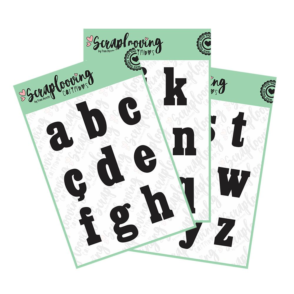 Cartelas Alfabeto Grande - Bold - Minúscula