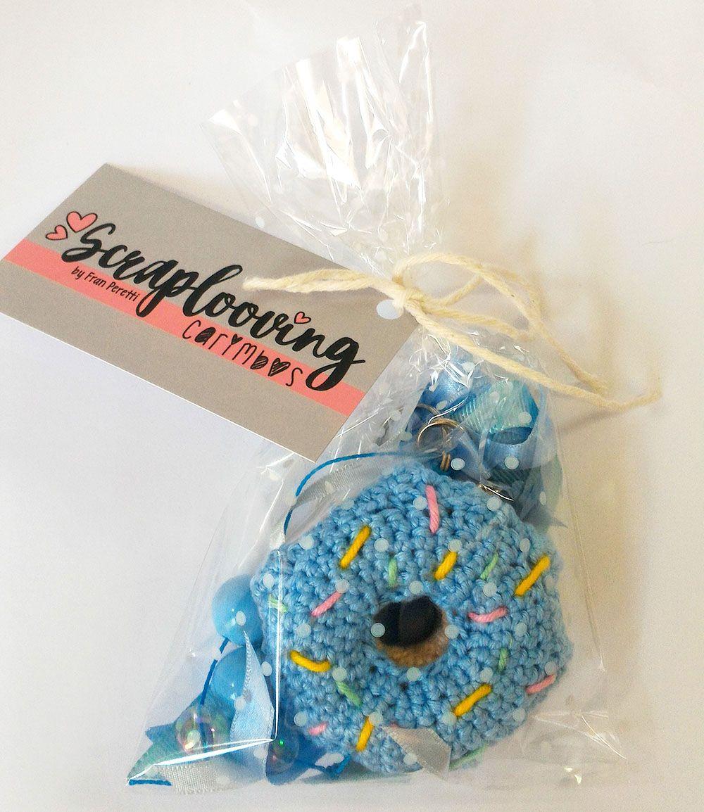 Chaveiro Donuts Azul
