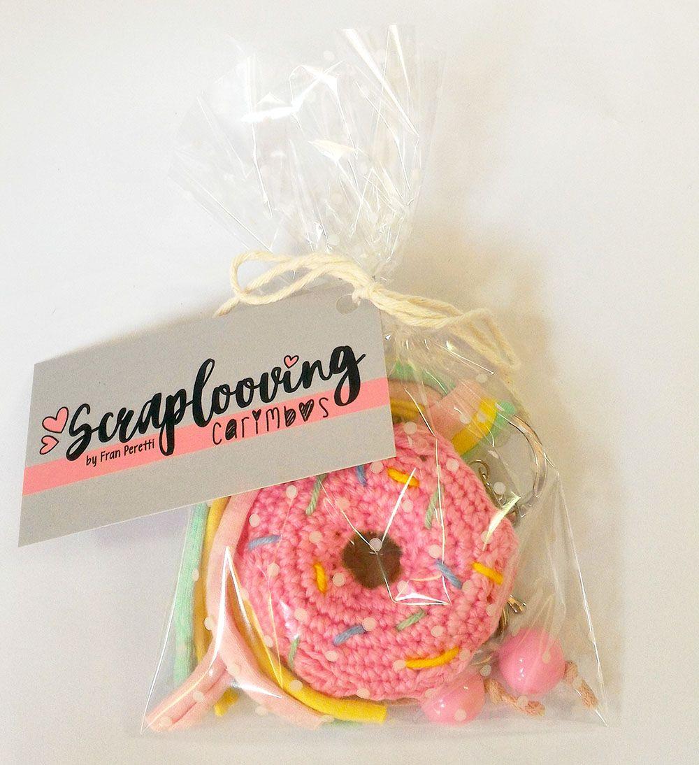Chaveiro Donuts Rosa