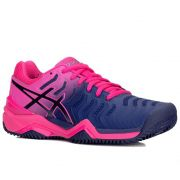 Tênis Asics Gel Resolution 7 - Feminino - Azul e Pink - Clay