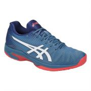 Tênis Asics Gel Solution FF - Azul e Goiaba