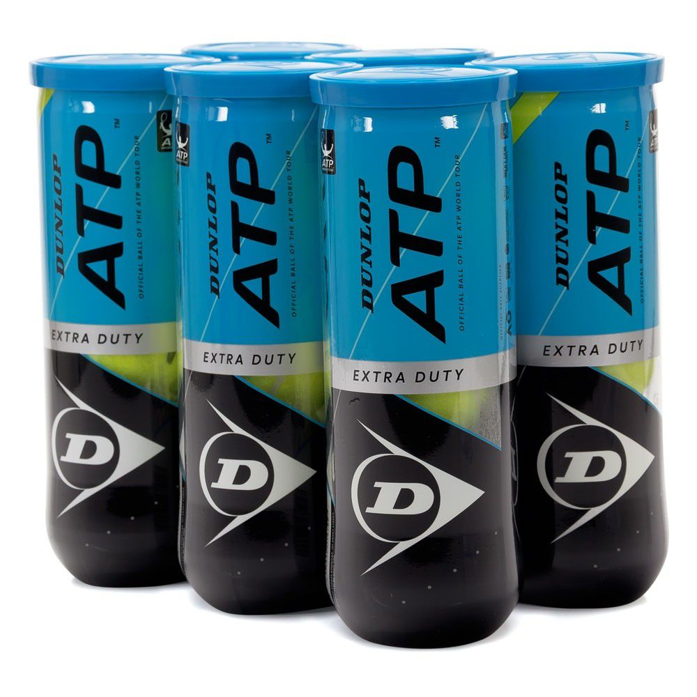 Bola de Tênis Dunlop ATP - Pack com 06 Tubos