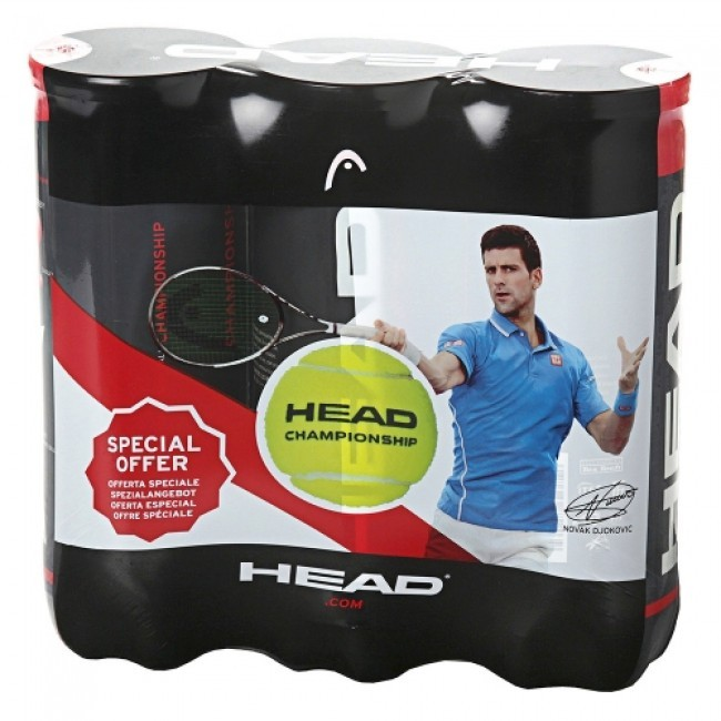 Bola de Tênis Head Championship Pack com 3 Tubos