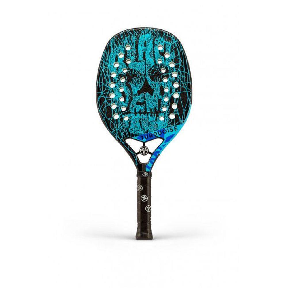 Raquete de Beach Tennis Turquoise Black Death 9.1 - 2019