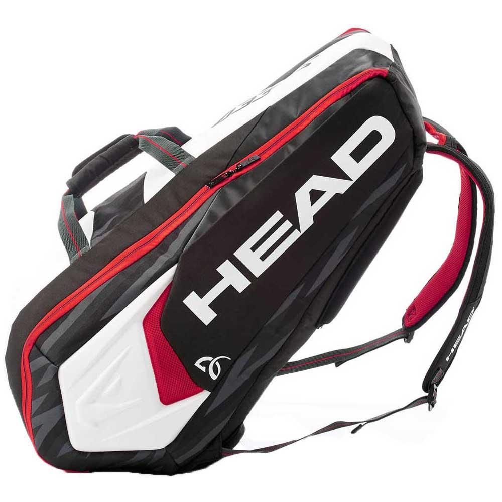 Raqueteira Head Djokovic 9R Supercombi New - Branca e Preta