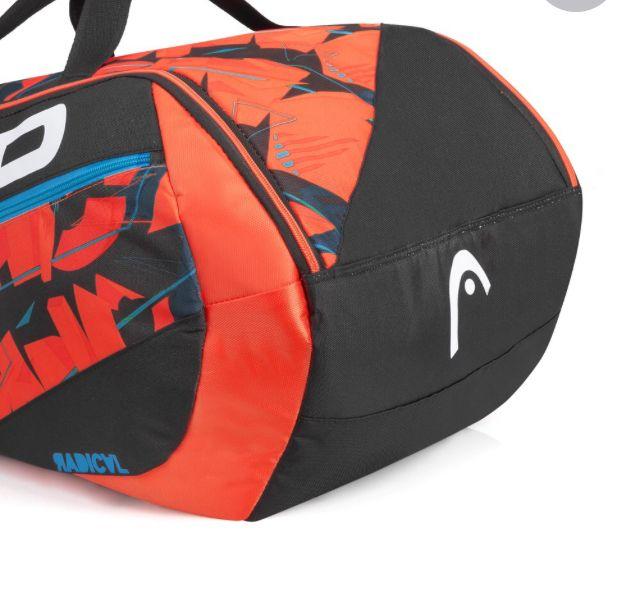 Raqueteira Head Radical 9R Supercombi - Preta e Laranja