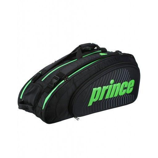 Raqueteira Prince Tour Slam 9 Pack Tripla Preta e Verde