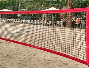 Rede de Beach Tennis Master 4 Faixas Nylon Fio 1,5mm