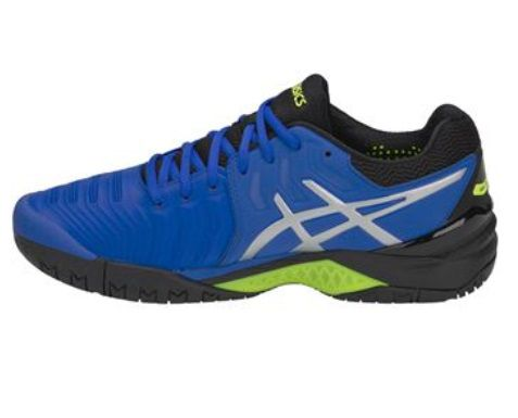 Tênis Asics Gel Resolution 7 - Azul, Preto e Amarelo - All Court