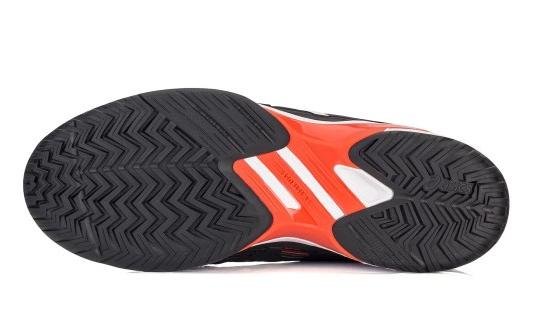 Tênis Asics Gel Solution Speed FF All Court Preto Amarelo e Laranja