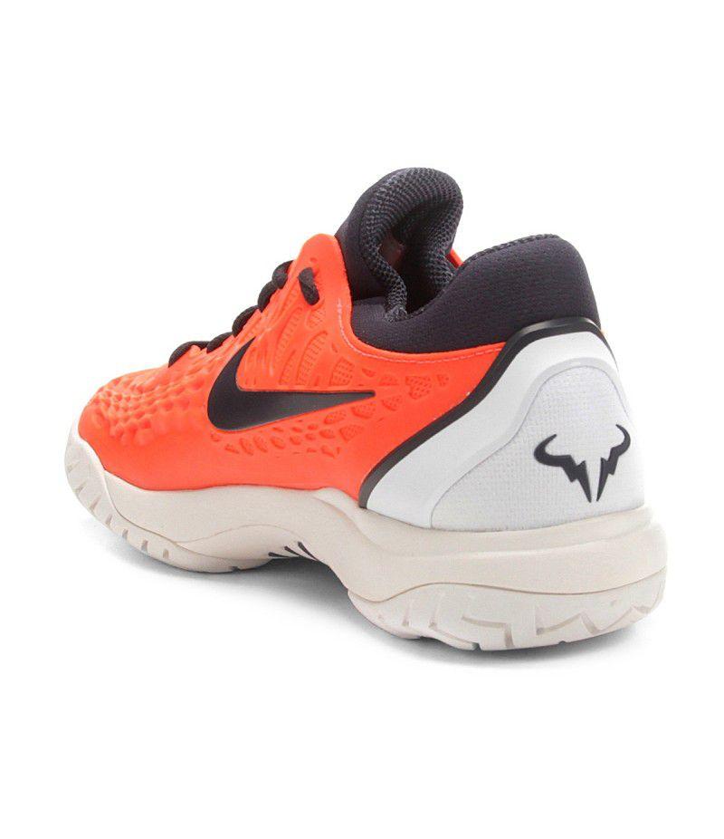 38bd3a9ce0 ... Tênis Nike Air Zoom Cage 3 HC Rafa Nadal - Laranja - PROTENISTA ...