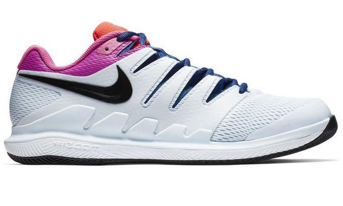 Tênis Nike Zoom Vapor X HC - Branco/Azul/Rosa