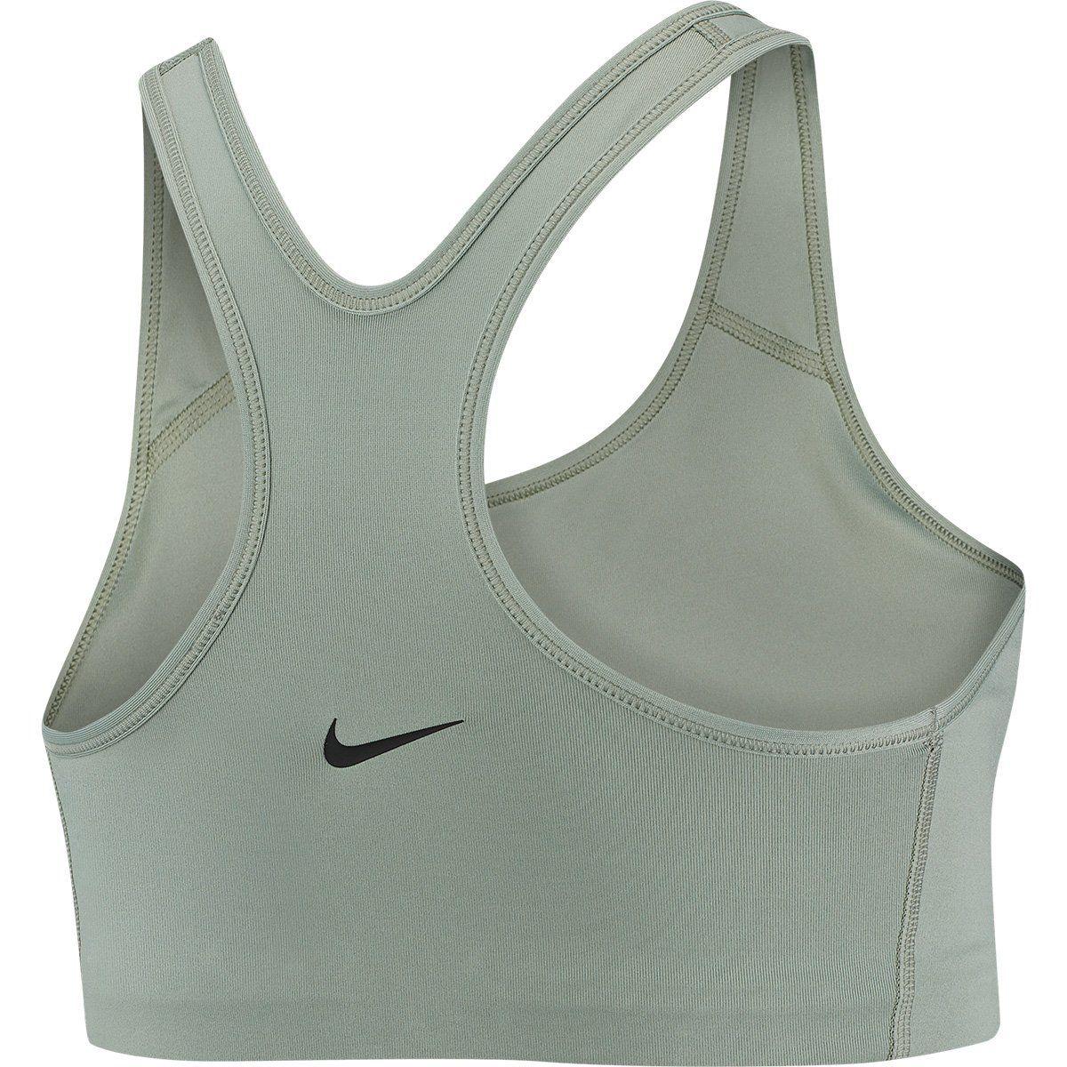 Top Curto Nike Rebel Swoosh Jdi Bra Alta Sustentação Feminino - Verde e Preto