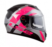 CAPACETE LS2 FF397 TRIDENT PINK 56