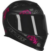 Capacete Motociclista Axxis / Mt Flowers Matt Black / Pink