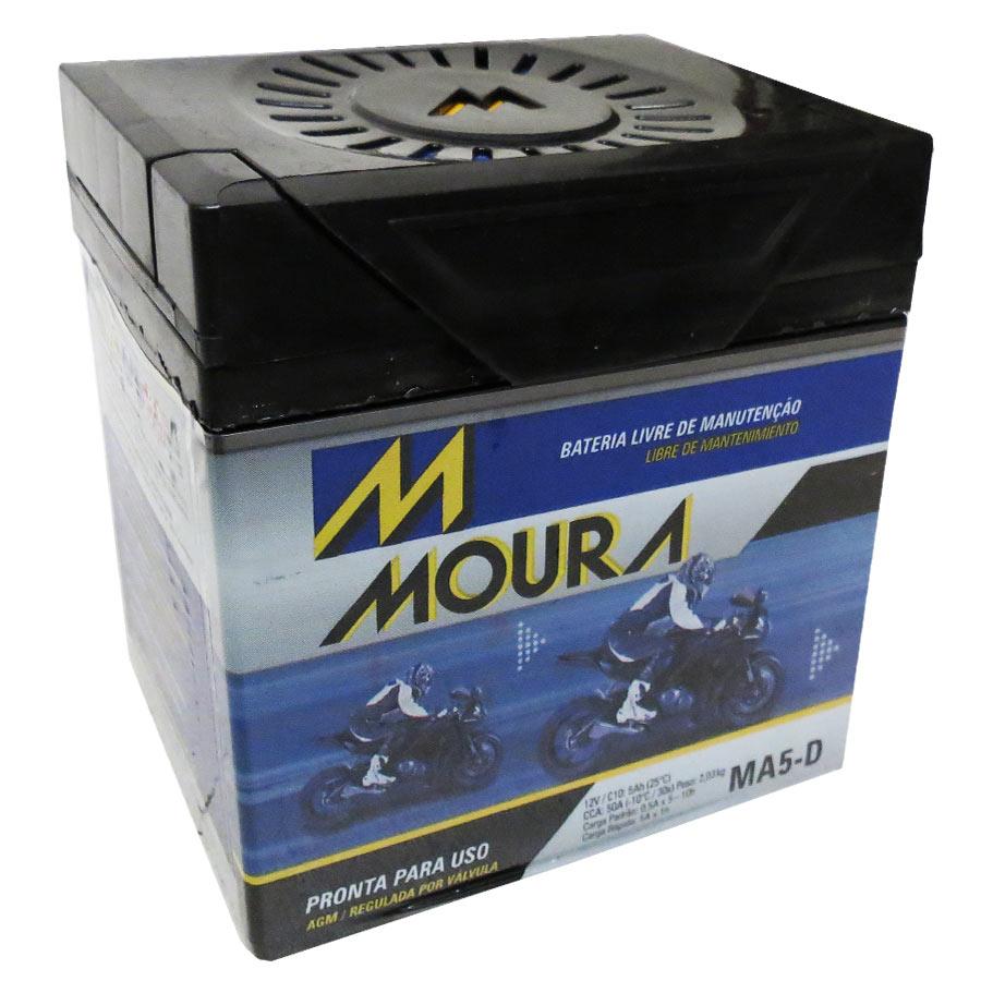 Bateria Ma5-d Moura 5ah Honda Cg 125 Fan Es 2005/2015